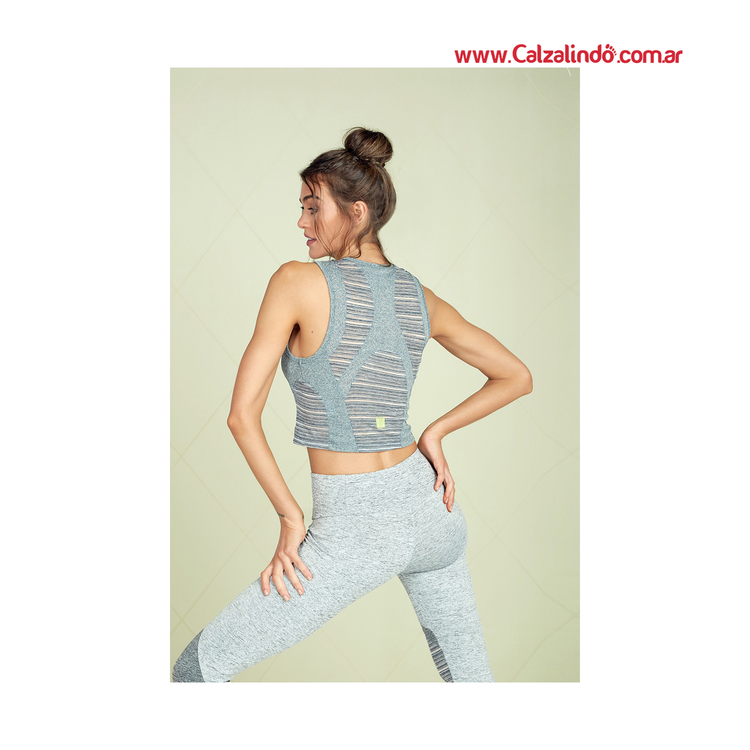 CROP JAZZ GRIS TOP COMBINADO